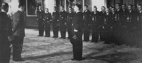 Hitler receives the crew of U-47